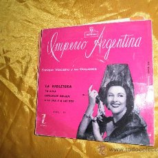 Discos de vinilo: IMPERIO ARGENTINA VOL II. ENRIQUE VIZCAINO Y SU ORQUESTA. EP. LA VIOLETERA. ZAFIRO. Lote 32947830