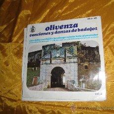 Discos de vinilo: OLIVENZA. CANCIONES Y DANZAS DE BADAJOZ. VOL. 2. EP. HISPAVOX 1966. Lote 32948034