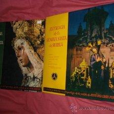 Discos de vinilo: ANTOLOGIA DE LA SEMANA SANTA DE SEVILLA VOL 1 Y 2 SAETAS MARCHAS REPORTAJES MACARENA Y GRAN PODER. Lote 32956617