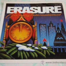 Discos de vinilo: ERASURE ( STOP! - THE HARDEST PART - KNOCKING ON YOUR DOOR - SHE WON'T BE HOME ) ENGLAND-1988 EP45. Lote 112074484