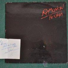 Discos de vinilo: RAMONCÍN - FE CIEGA (EDICIÓN ESPECIAL VINILO ROJO FIRMADA Y DEDICADA). Lote 32982908
