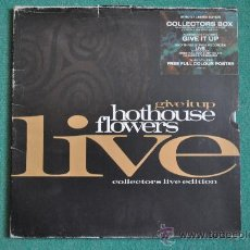 Discos de vinilo: HOTHOUSE FLOWERS - GIVE IT UP LIVE (COLLECTORS EDITION + POSTER). Lote 32983768