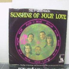 Discos de vinilo: THE 5TH DIMENSION - SUNSHINE OF YOUR LOVE + 1 - EDICION ALEMANA - LIBERTY . Lote 32989604