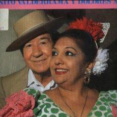 Discos de vinilo: JUANITO VALDERRAMA Y DOLORES ABRIL - POR SEVILLANAS . Lote 33023846