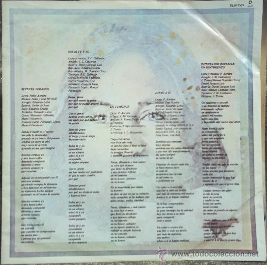Discos de vinilo: LP argentino de Pablo Abraira año 1981 - Foto 2 - 32992641