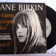 """Discos de vinilo: JANE BIRKIN-JE T'AIME MOI NON PLUS-JANE B 7"""". Lote 33025511"""