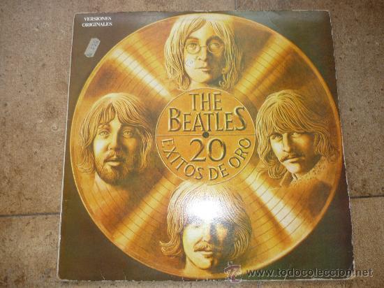 DISCO DE VINILO L. P. DE THE BEATLES, 20 EXITOS DE ORO: SHE LOVES YOU, HELP, SOMETHING ODEON 1979 (Música - Discos - LP Vinilo - Pop - Rock Internacional de los 50 y 60)