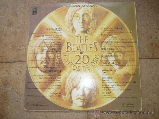 Discos de vinilo: Disco de vinilo L. P. de The Beatles, 20 Exitos de Oro: She loves you, Help, Something ODEON 1979 - Foto 4 - 226626090