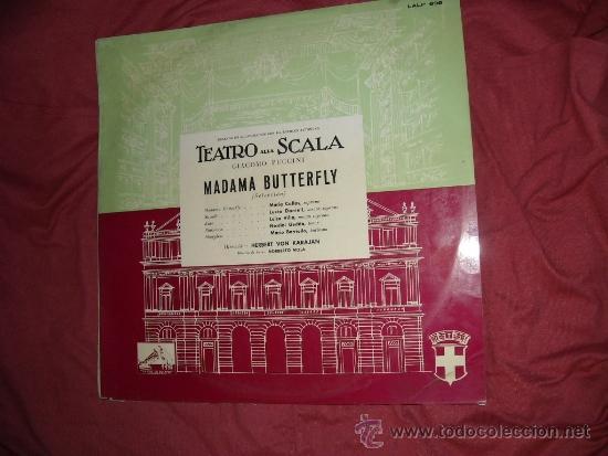 PUCCINI MADAME BUTERFLY-SELECCION-CALLAS-DANIELI-KARAJAN LP EMI SPA 1965 VER FOTO ADICIONAL (Música - Discos - LP Vinilo - Clásica, Ópera, Zarzuela y Marchas)
