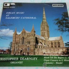 Discos de vinil: CHRISTOPHER DEARNLEY ORGANIST (ORGAN MUSIC SALISBURY CATHEDRAL) EP45 ENGLAND RYEMUSE RECORDS. Lote 33045878