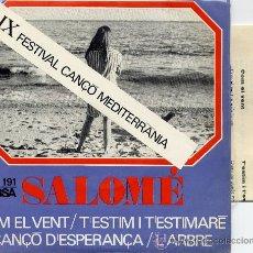 Discos de vinilo: SOLOMÉ : COM EL VENT (4 CANCIONES) SG. EDIGSA 1967. Lote 33049127