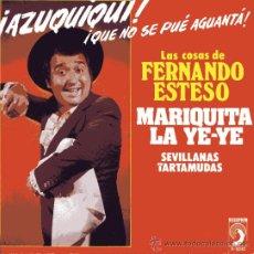 Discos de vinilo: FERNANDO ESTESO: MARIQUITA LA YE-YE (SG.) DISCOPHON 1973. Lote 33049279