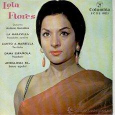 Discos de vinilo: LOLA FLORES - LA MARAVILLA - DAMA ESPAÑOLA +2 - EP 1962 - EX / EX. Lote 33090079