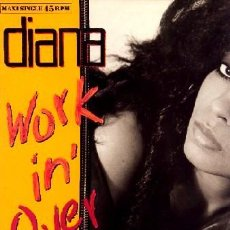 Discos de vinilo: DIANA ROSS ••• WORKING OVERTIME (EXTENDED VERSION) - (MAXISINGLE 45R) ¡NUEVO!. Lote 33099751