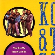 Discos de vinilo: KOOL & THE GANG ••• YOU GOT MY HEART ON FIRE / YOU ARE THE MEANING OF FRIEND- (MAXI 45R) ¡NUEVO!. Lote 33099988