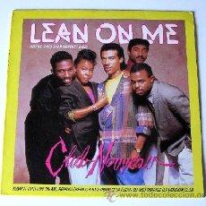 Discos de vinilo: CLUB NOVEAU ••• LEAN ON ME (REMIX) / LEAN ON ME (LP VERS) / PUMP IT UP / REPRISE - (MAXISINGLE 45R). Lote 33100081