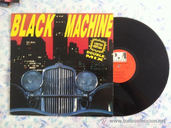 """MAXI 12""""BLACK MACHINE DOUBLE MIX (Música - Discos - Singles Vinilo - Pop - Rock Internacional de los 90 a la actualidad)"""