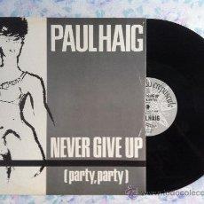 "Discos de vinilo: 12"" MAXI-PAUL HAIG-NEVER GIVE UP. Lote 33110221"