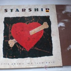 Discos de vinilo: STARSHIP,(JEFFERSON) LOVE AMONG THE CANNIBALS, LP BMG ESPAÑA 1989, INSERT, NUEVO. Lote 143878424