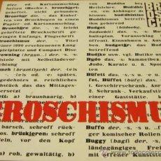 Discos de vinilo: BROSCH - BROSCHISMUS - LP - HISTORIA 1990 GERMANY / RAMMSTEIN - LETRAS - N MINT. Lote 33127177