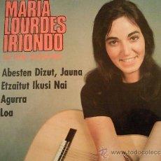 Discos de vinilo: MARIA LOURDES IRIONDO - AGURRA + 3 EP 1967 CON LETRAS. Lote 212001767