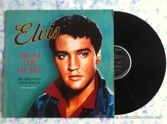 LP-ELVIS- FROM THE HEART-HIS GREATEST LOVE SONG (Música - Discos - Singles Vinilo - Pop - Rock - Extranjero de los 70)