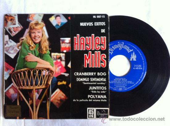"""7"""" EP-HAYLEY MILLS-CRANBERRY BOG-JUNTITOS-POLYANA.. (Música - Discos de Vinilo - Maxi Singles - Solistas Españoles de los 50 y 60)"""