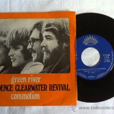 Discos de vinilo: 7 CREEDENCE CLEARWATER REVIVAL-GREE RIVER-COMMOTION. Lote 33173309