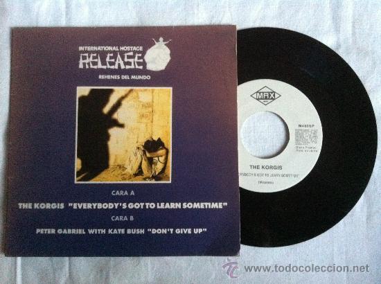 """7"""" INTERNACIONAL HOSTAGE RELEASE-THE KORGIS-PETER GABRIEL (Música - Discos - Singles Vinilo - Pop - Rock Internacional de los 90 a la actualidad)"""