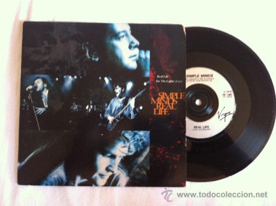 "7"" SIMPLE MINDS-REAL LIFE-SEE THE LIGHTS(LIVE) (Música - Discos - Singles Vinilo - Pop - Rock Internacional de los 90 a la actualidad)"