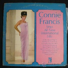 Discos de vinilo: LP CONNIE FRANCIS // SINGS ALL TIME INTERNATIONAL HITS. Lote 33205993