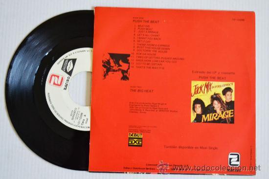 Discos de vinilo: MIRAGE Push The Beat (ZAFIRO Single 1988) ESPAÑA - Foto 2 - 33214697