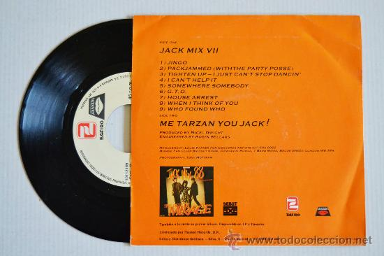 Discos de vinilo: MIRAGE Jack Mix VII (ZAFIRO Single 1988) ESPAÑA - Foto 2 - 33214721