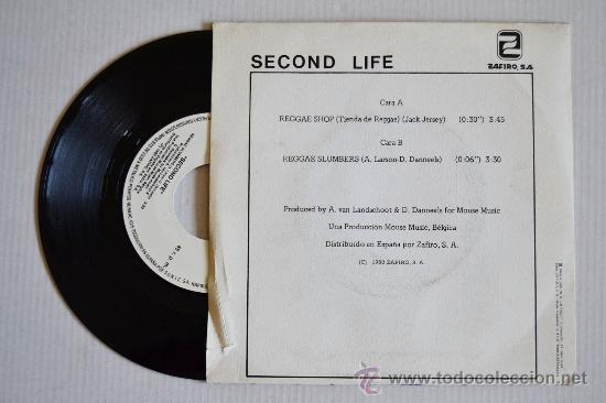 Discos de vinilo: SECOND LIFE Reggae Shop (ZAFIRO Single 1980) ESPAÑA - Foto 2 - 33217467