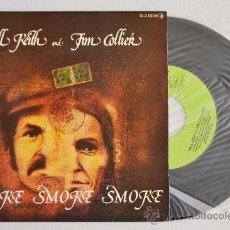 Discos de vinilo: BILL KEITH Y JIM COLLIER SMOKE SMOKE SMOKE (GUIMBARDA SINGLE 1980) ESPAÑA. Lote 33220757
