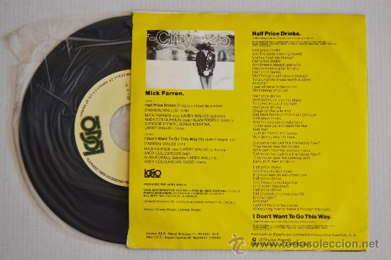 Discos de vinilo: MICK FARREN Half Price Drinks (LOGO Single 1979) ESPAÑA - Foto 2 - 33221897