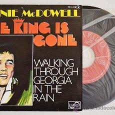 Discos de vinilo: RONNIE MACDOWELL THE KING IS GONE (ZAFIRO SINGLE 1977) ESPAÑA. Lote 33222568