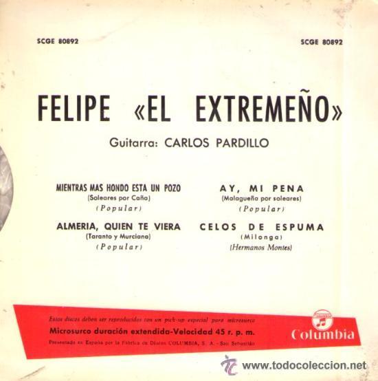 Discos de vinilo: FELIPE EL EXTREMEÑO - 1964 - Foto 2 - 33225567