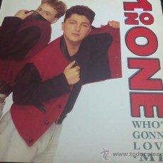 Discos de vinilo: 1 ON ONE, WHO'S GONNA LOVE ME - MAXI SINGLE. Lote 33229792