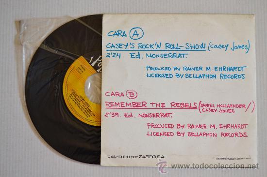 Discos de vinilo: CASEY JONES Caseys Rockn roll-Show (POPLANDIA Single 1974) ESPAÑA - Foto 2 - 33229796
