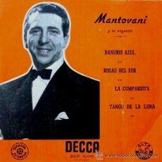 Discos de vinilo: MANTOVANI - EL DANUBIO AZUL, LA CUMPARSITA. Lote 33231525