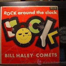 Discos de vinilo: BILL HALEY & HIS COMETS ROCK AROUND THE CLOCK LP DECCA ORIGINAL USA 1955 VG++/VG++. Lote 33232023