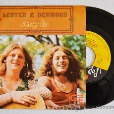 Discos de vinilo: LESTER & DENWOOD ANGELA (POPLANDIA SINGLE 1974) ESPAÑA. Lote 33236727