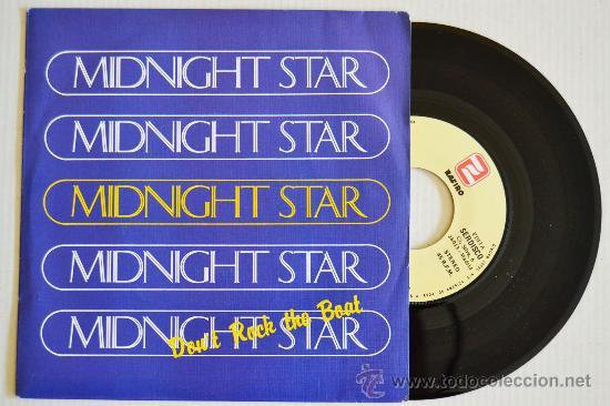 MIDNIGHT STAR - DON'T ROCK THE BOAT (ZAFIRO SINGLE 1988) ESPAÑA (Música - Discos de Vinilo - Singles - Pop - Rock Internacional de los 80)