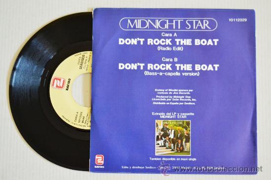 Discos de vinilo: MIDNIGHT STAR - Dont Rock The Boat (ZAFIRO Single 1988) ESPAÑA - Foto 2 - 33236882