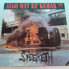 Discos de vinilo: L.P. DE SPEERETH. ALGO HAY KE KEMAR. FOBIA + FANZINE. Lote 33239393