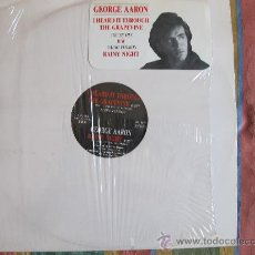Discos de vinilo: MAXI - GEORGE AARON - I HEARD IT THROUGH THE GRAPEVINE (TWO VERSIONS) / RAINY NIGHT (TOP LINE 1988). Lote 33240934