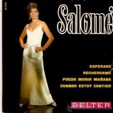 Discos de vinilo: EP SALONE - ESPERAME -RECUERDAME-PUEDO MORIR MAÑANA - CUANDO ESTOY CONTIGO. Lote 33247278