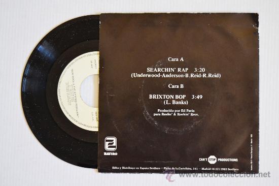 Discos de vinilo: BON ROCK & THE RYTHEM REBELLION - Searching Rap (ZAFIRO Single 1983) ESPAÑA - Foto 2 - 33249463