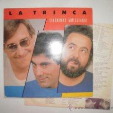 Discos de vinilo: DISCO VINILO. LA TRINCA, SINANIMUS MOLESTANDI. LP, 1985, ARIOLA. Lote 33366141